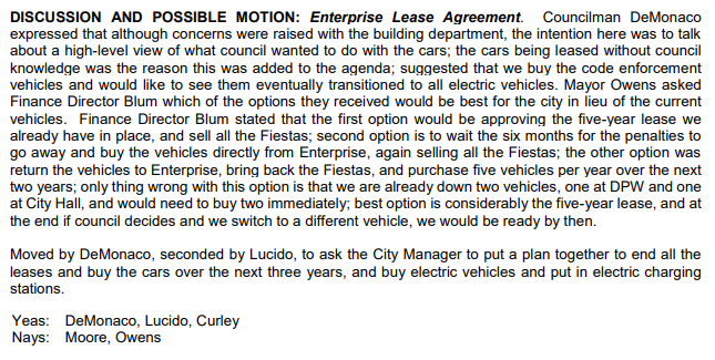 Motion About Transition to Electric Vehicles 2021 02 02